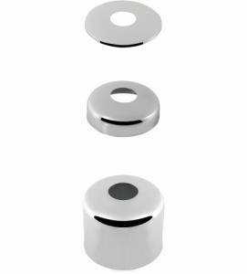 ASW Hahnrosetten Messing verchromt 1/2 (Höhe: 5mm)