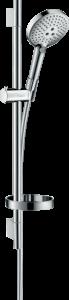 Hansgrohe Raindance Select S Brauseset 120 3jet EcoSmart 9 l/min mit Brausestange 65 cm und Seifenschale chrom