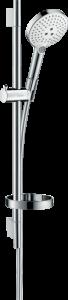 Hansgrohe Raindance Select S Brauseset 120 3jet EcoSmart 9 l/min mit Brausestange 65 cm und Seifenschale weiß/chrom