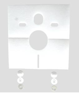 SANIT Schallschutzset für Wand-WC und Bidet