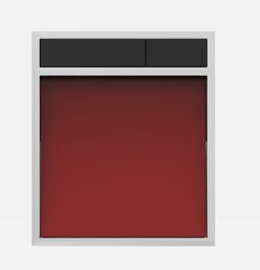 SANIT Betätigungsplatte LIS ohne Beleuchtung Grundplatte Glas rot Tastenpaar schwarz