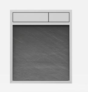 SANIT Betätigungsplatte LIS ohne Beleuchtung Grundplatte Schiefer grau Tastenpaar chrom