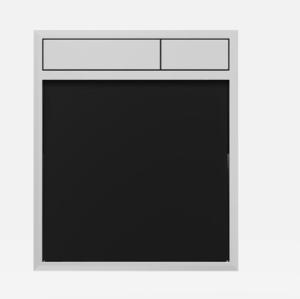 SANIT Betätigungsplatte LIS ohne Beleuchtung Grundplatte Glas schwarz Tastenpaar chrom