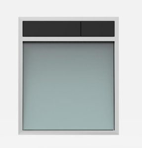 SANIT Betätigungsplatte LIS ohne Beleuchtung Grundplatte Glas silbergrau Tastenpaar schwarz