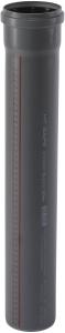 HT safe Rohr HTEM mit Muffe, DN 90 (Variante: Länge 150 mm)