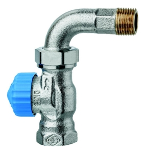 HEIMEIER Thermostat-Ventilunterteil mit geringem Widerstand & Bogenverschraubung DN 15