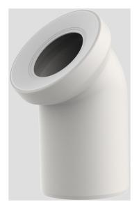 Sanit WC-Anschlussbogen DN100 pergamon 45 Grad