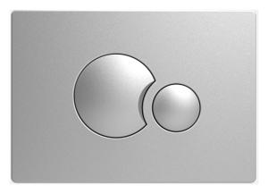 Sanit WC Betätigungsplatte S706 v.vorne/oben mattchrom