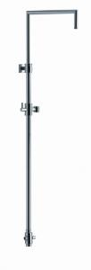 Aquaconcept AquaSquare Brausehalter höhenverstellbar, mit Umsteller (Variante: verchromt)