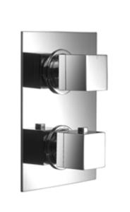 Aquaconcept Kross UP-Thermostatarmatur mit AC-Box 1Wege (Oberfläche: verchromt mit AC-Box)