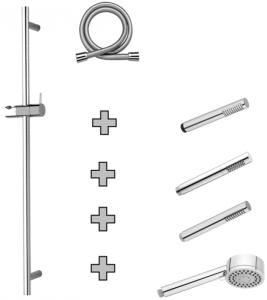Aquaconcept Wandstangenset Staff (Größen: Handbrause Conny verchromt 700 mm)