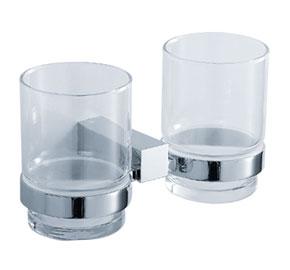 Aquaconcept SilverLine Glashalter 2-fach Wandmontage