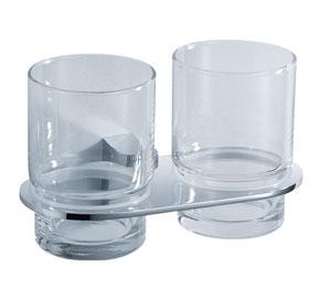 Aquaconcept GreyLine Glashalter 2-fach Wandmontage