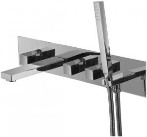 Varono UP 5-Loch Wannen Mischbatterie incl.Einbaukörper Wand Serie-22