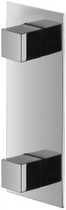 Varono Unterputz Brause Zweihebelmischbatterie incl.Einbaukörper Serie-22