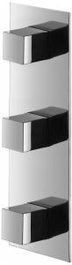 Varono Unterputz Wanne Dreihebelmischbatterie incl.Einbaukörper und Umsteller Serie-22