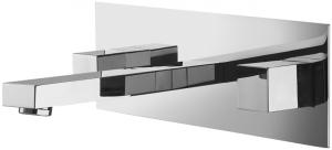 Varono Waschtisch Zweihebelmischbatterie mit Einbaukörper Wand Serie-22