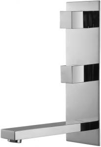 Varono Waschtisch Zweihebelmischbatterie inkl. Einbaukörper Wand Serie-22