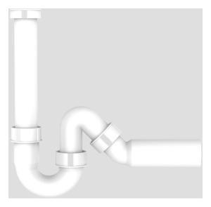 SANIT Universal Rohrgeruchverschluss G1 1/2x50