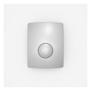 SANIT Urinal-Abdeckplatte Kunststoff mattchrom
