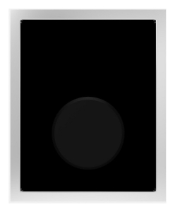 SANIT Urinal-Abdeckplatte Glas schwarz