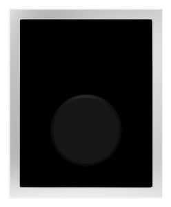 SANIT Urinal-Abdeckplatte Glas Infrarot Netz 230V schwarz