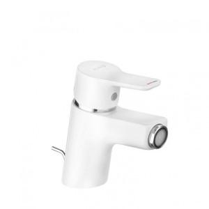 Kludi Pure&Easy Bidet-Einhandmischer DN 15 Weiß/Chrom