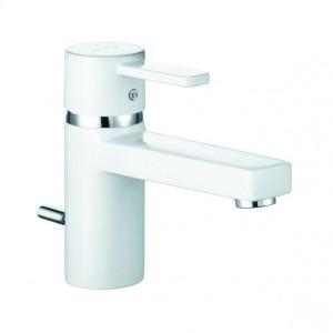 Kludi Zenta Waschtisch-Einhandmischer DN 10 weiß/chrom