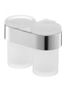 Aquaconcept Kross Glashalter 2-fach Wandmontage (Oberfläche: verchromt)
