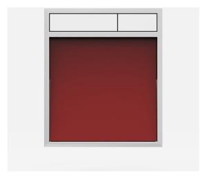 SANIT Betätigungsplatte LIS ohne Beleuchtung Grundplatte Glas rot Tastenpaar weiss