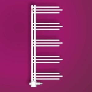 MERT Nezife Design-Badheizkörper weiß (Varianten: : RAL 9016 Verkehrsweiß Höhe:1200 Breite 500mm)