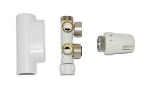 MERT ECAM KOMPLETTSET, ECK form (Variante: weiß Thermostat rechts)