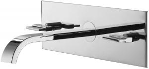 Varono Waschtisch-Zweihebelmischbatterie, inkl. Einbaukörper Serie 44