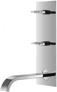 Waschtisch-Zweihebelmischbatterie inkl. Einbaukörper Serie 44
