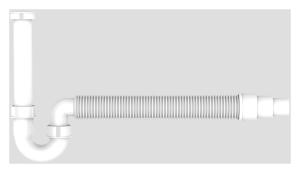 SANIT Rohrgeruchverschluss G1 1/2x40/50 flexibel Schlauch