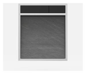 SANIT Betätigungsplatte LIS ohne Beleuchtung Grundplatte Schiefer grau Tastenpaar schwarz