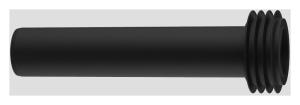 SANIT WC- Anschlussrohr mit Spülrohrverbinder schwarz (Länge: 180mm)