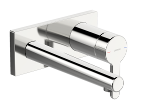 HANSADESIGNO Fertigmontageset  Waschtisch-Einhand-Wandbatterie, DN 15