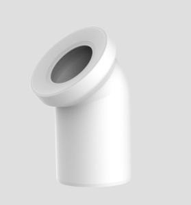 Sanit WC-Anschlussbogen DN100 weiß 45 Grad