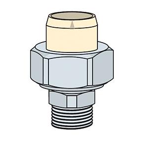 Friatherm Rohrsystem PN25 starr Übergangsverschraubung mit AG (Variante: 40mmxR11/4)