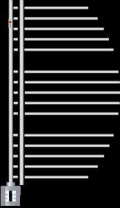 Mert Aycan Elektro Badheizkörper chrom (Varianten in mm: Chrom Breite:500 Höhe:800)