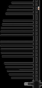 MERT Aycan Design-Badheizkörper tiefschwarz (Varianten:: RAL 9005 Tiefschwarz Breite:500 Höhe:800)