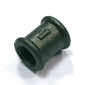 Temperguss Muffe 270  mit 2 IG schwarz (Variante: 1/2)