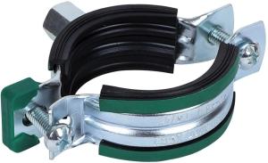 Schraubrohrschelle Standard mit 2 Verschlussschrauben und Schallschutzeinlage (Variante: 10-14mm)