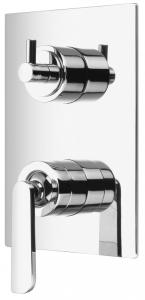 Varono Unterputz-Wanne/Brause-Einhebelmischbatterie, inkl. Einbaukörper, Serie -77