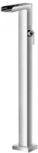 Varono Wanne/Brause-Einhebelmischbatterie, freistehend, Schwallauflauf Serie-77