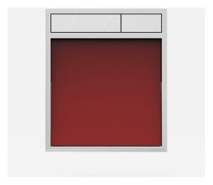 SANIT Betätigungsplatte LIS ohne Beleuchtung Grundplatte Glas rot Tastenpaar mattchrom
