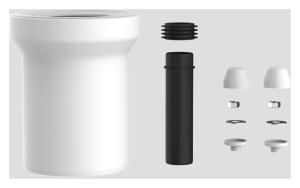 SANIT WC-Anschlussgarnitur 160mm DN100 weiß