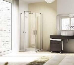 Hüppe Design elegance 4-Eck Schwingtür mit festen Segmenten für Seitenwand