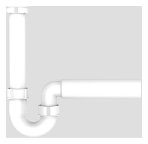 SANIT Rohrgeruchverschluss G1 1/2x50